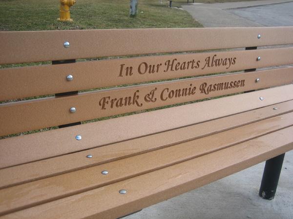 Harley Davidson Park Bench